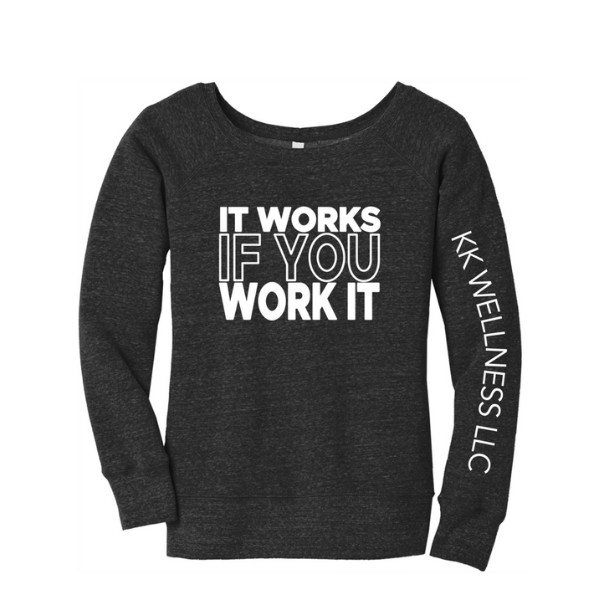 It Works If You Work It Off-the-Shoulder Sweatshirt
