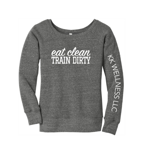 Eat Clean Train Dirty Off The Shoulder Sweatshirt