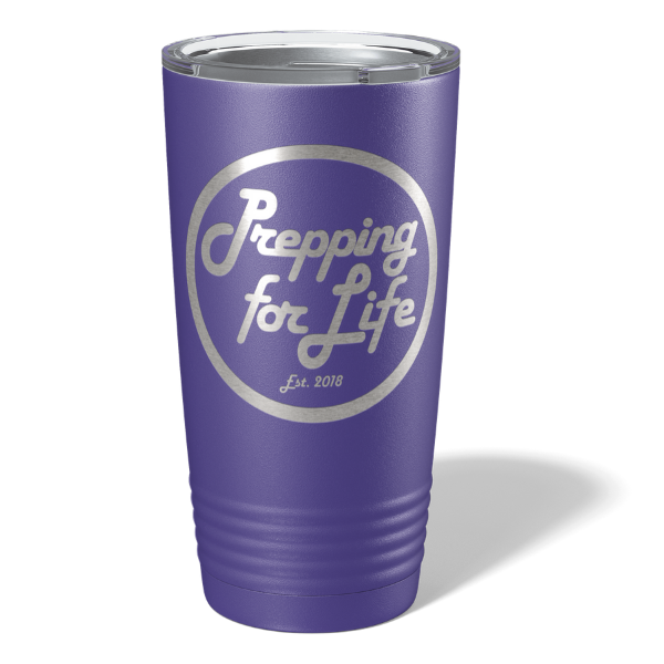20 oz Tumbler Prepping For Life Retro