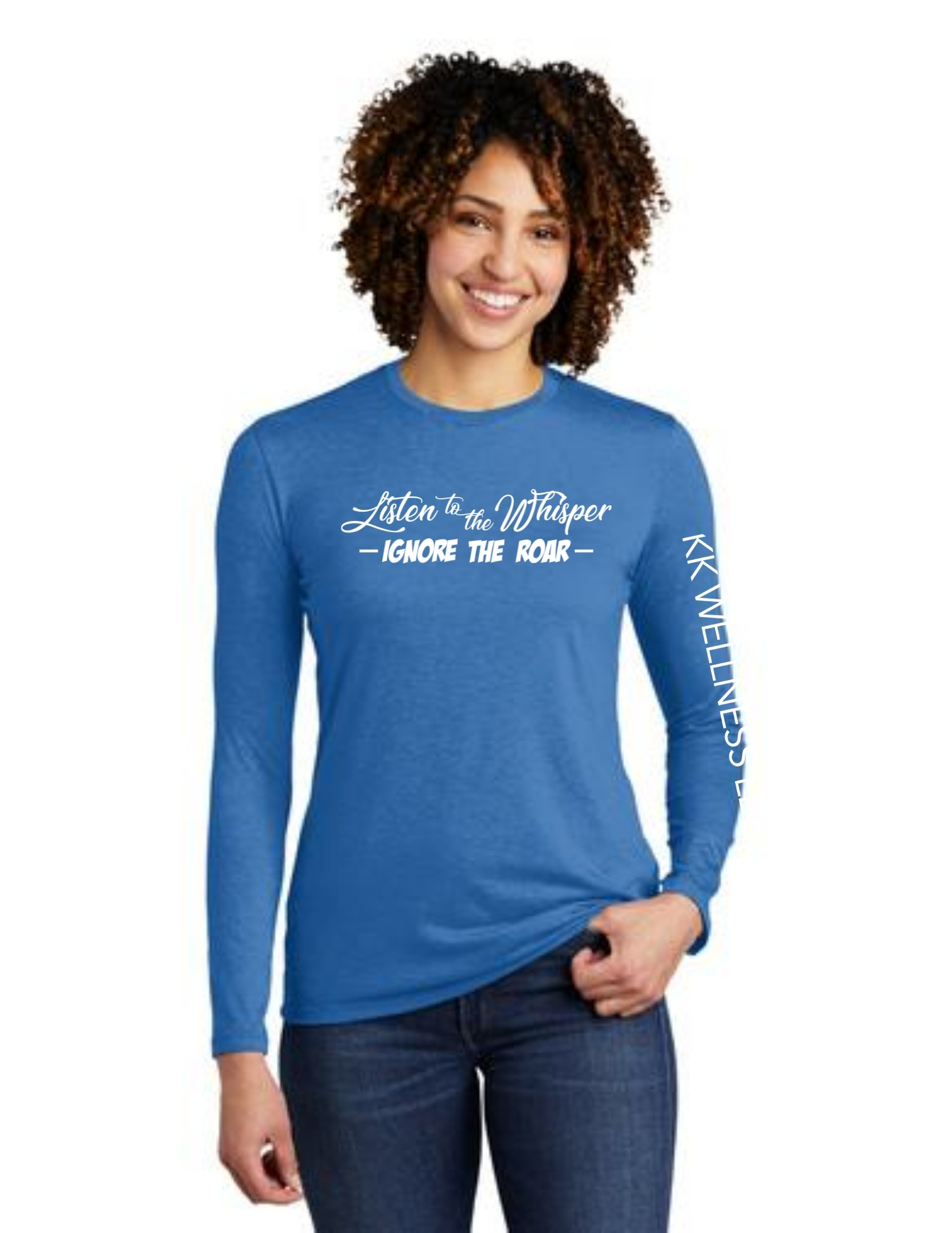 Listen to the Whisper Ignore the Roar Allmade Long Sleeve Tri-Blend