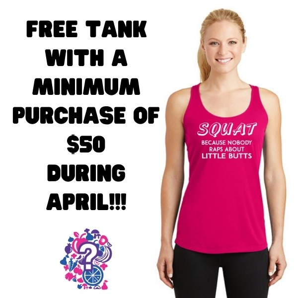 Free Squat Tank with $50 purchase