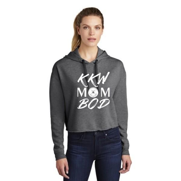 KKW Mom Bod Triblend Crop Hoodie