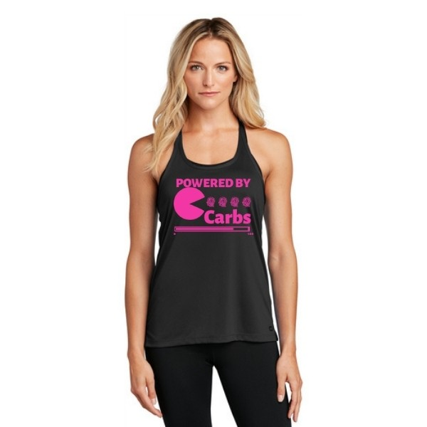 Powered By Carbs Mesh Tank_Hot Pink
