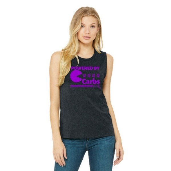 Powered By Carbs Muscle Tank Purple