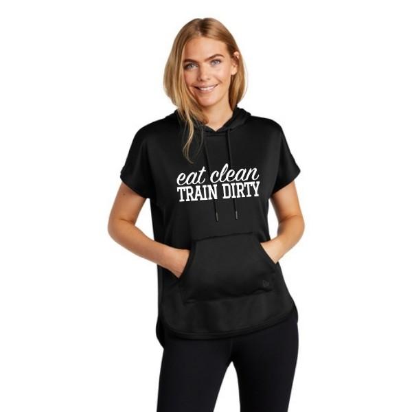 Eat Clean Train Dirty Short Sleeve Hoodie