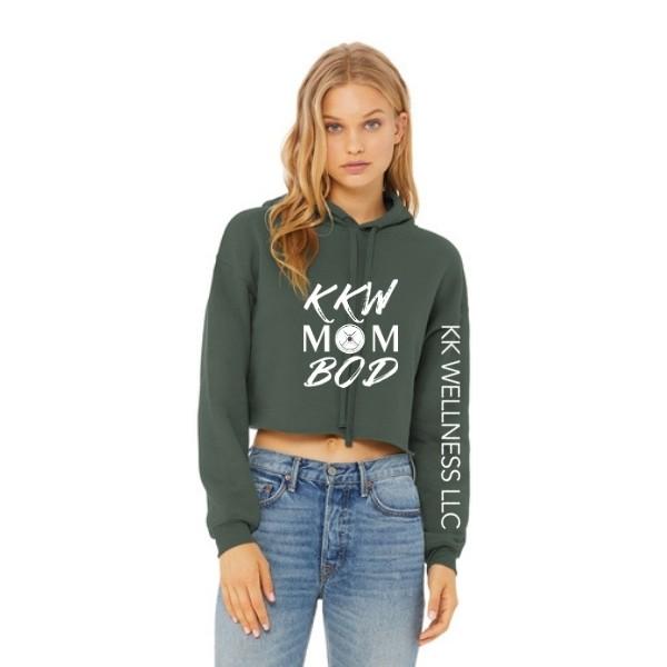 KKW Mom Bod Sponge Fleece Crop Hoodie