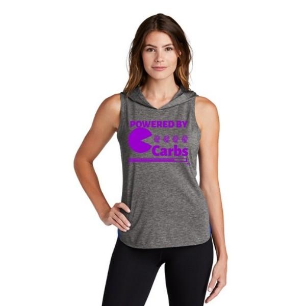 Powered By Carbs Triblend Draft Hoodie Purple