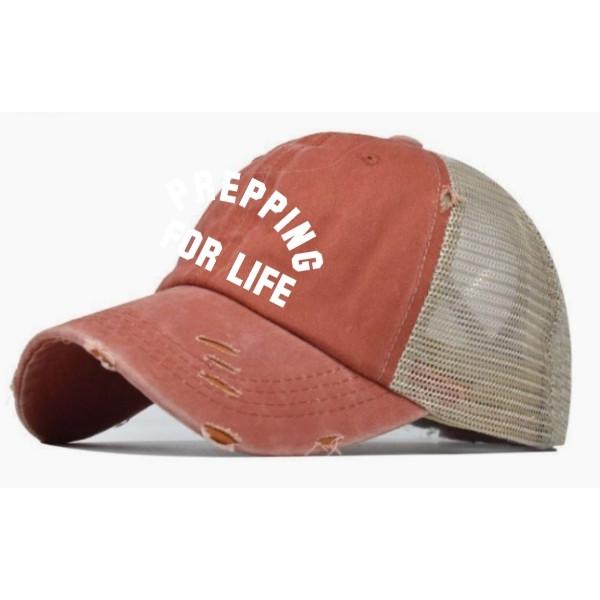 Prepping For Life 3D Ponytail Hat